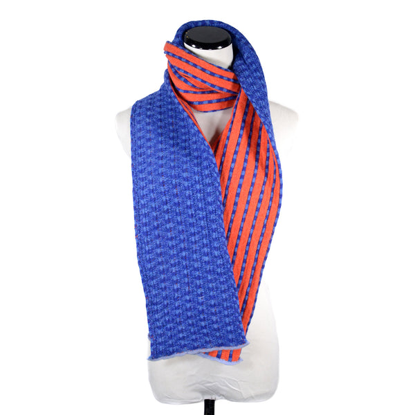 NEW! Variegated Vertical Stripe Scarf by Katie Mawson