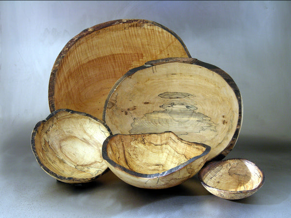 Spalted Maple Bowls by Spencer Peterman - Fire Opal
