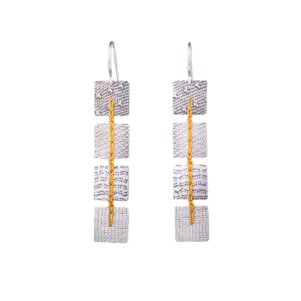 NEW! Yellow Square Crocheted Earrings by Erica Schlueter