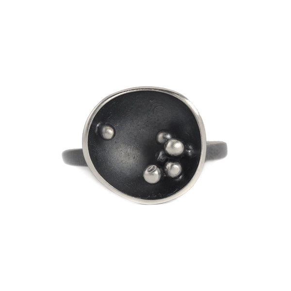 NEW! Oxidized Silver Family Cup Ring by Melle Finelli