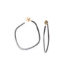 Square Oxidized Hoop Earrings by Colleen Mauer Designs