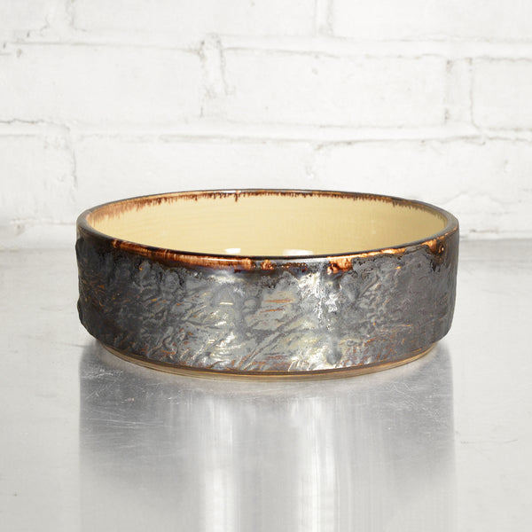"Medium 8"" Bronze Cylinder Bowl in Parchment by Alice Goldsmith"
