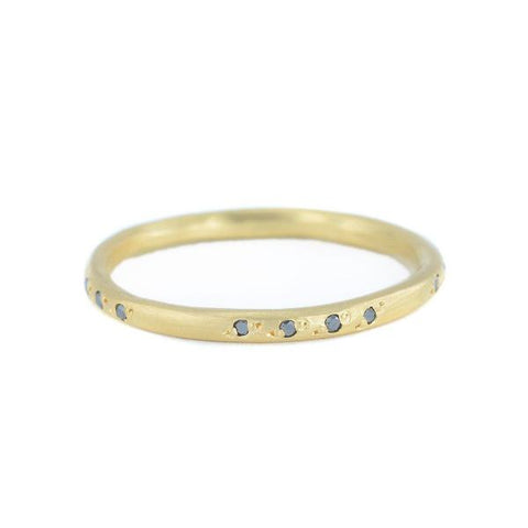 NEW! Pavé Scatter Band with Black Diamonds by Sarah Mcguire