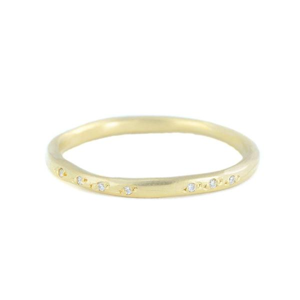 NEW! Pavé Scatter Band with White Diamonds by Sarah Mcguire