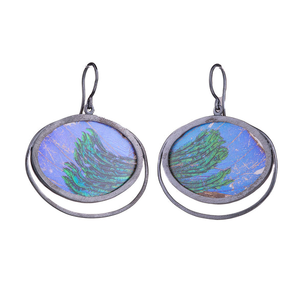 NEW! Meye Draped Butterfly Peacock Earrings by Luana Coonen