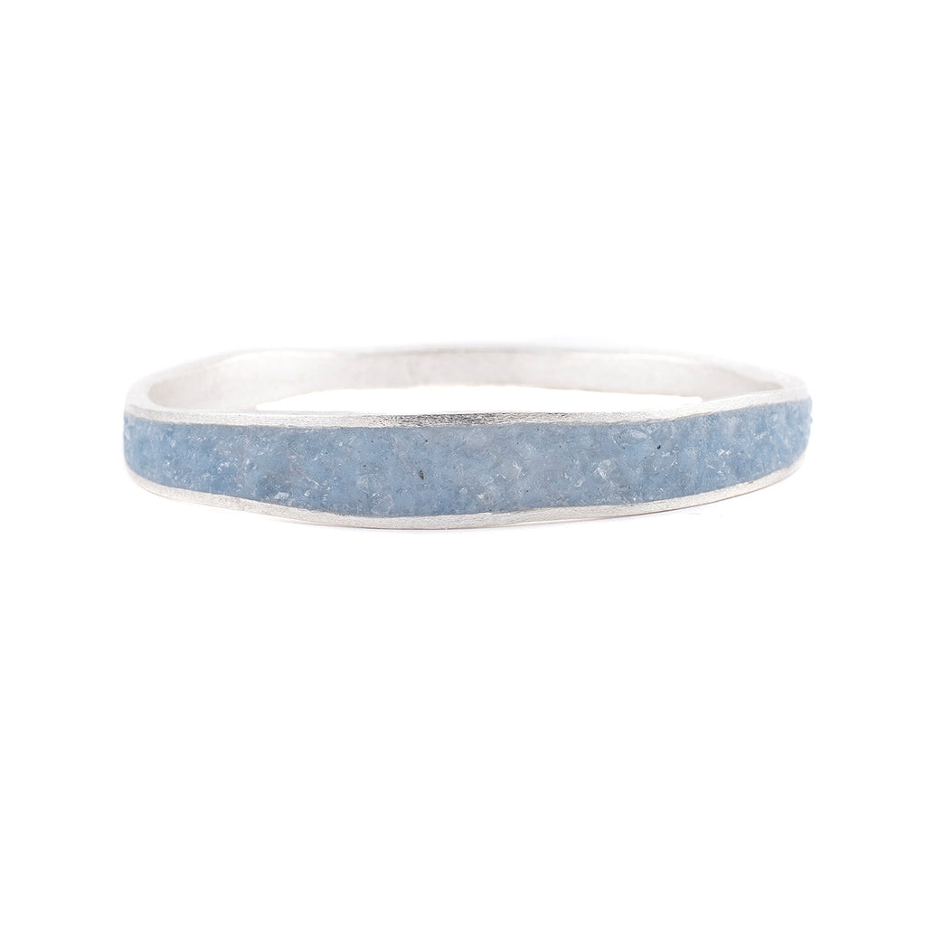 Medium Thin Bangle in Periwinkle by David Urso