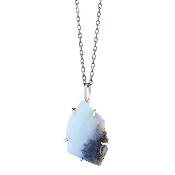 NEW! Large Peruvian Opal Pendant by Variance Objects