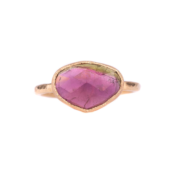 NEW! 18k Gold Brazilian Tourmaline Ring by Yasuko Azuma
