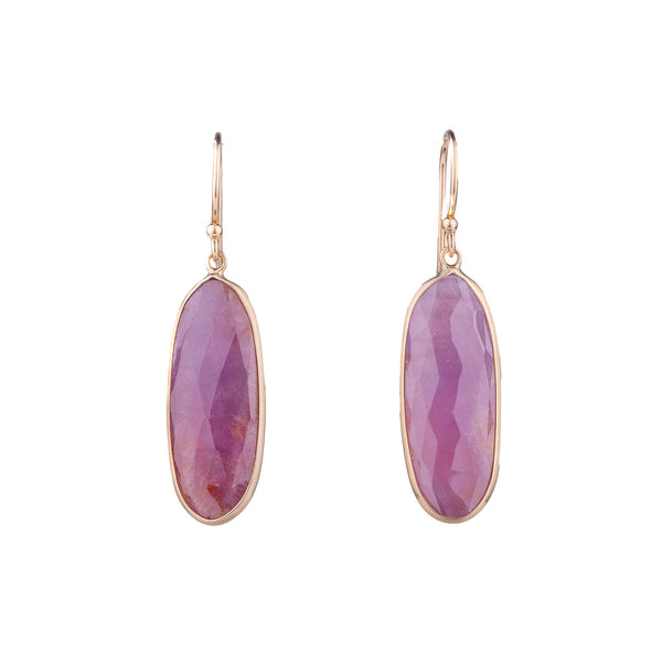 NEW! Pink Sapphire Earrings with 14k Gold by Margaret Solow