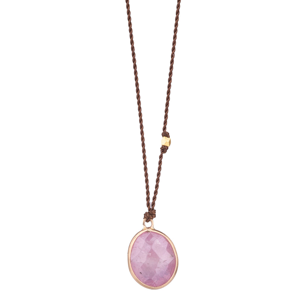 NEW! Pink Sapphire Necklace with 14k Gold by Margaret Solow