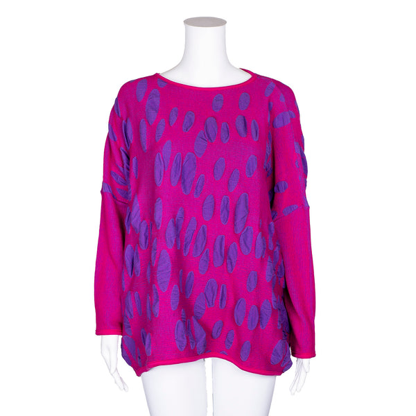 NEW! Textured Top in Fuxia-Viola by Knit Knit