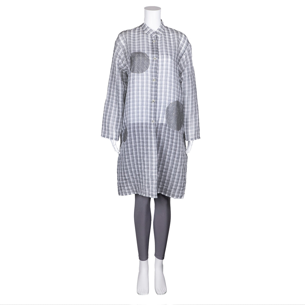 SALE! Lightweight Long Check Shirt by Xiaoyan Lin