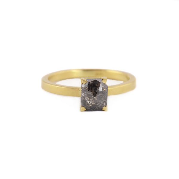 One of A Kind 4 Prong Hera Setting Diamond Ring by Sarah Swell