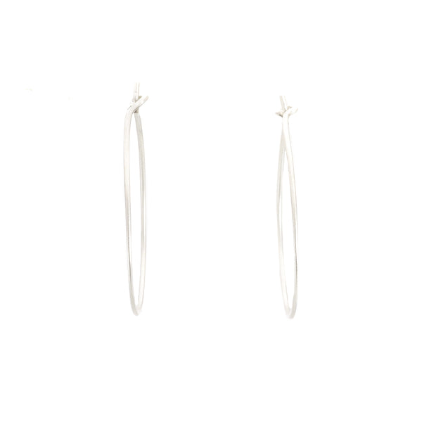 NEW! Small Pull-Through Silver Hoop Earrings by Colleen Mauer Designs