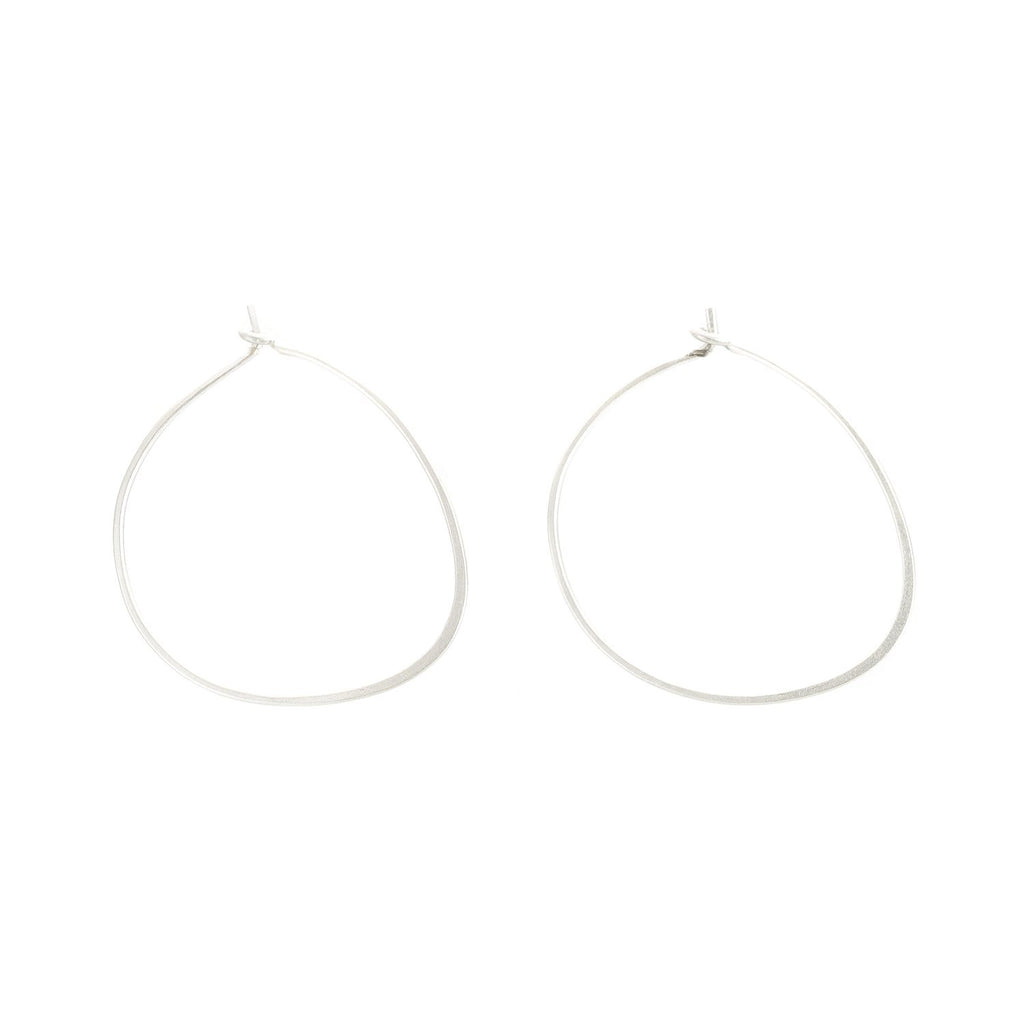 Small Pull-Through Silver Hoop Earrings by Colleen Mauer Designs