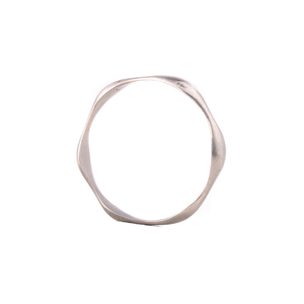NEW! 14k White Gold Pulse Band by Carla Caruso
