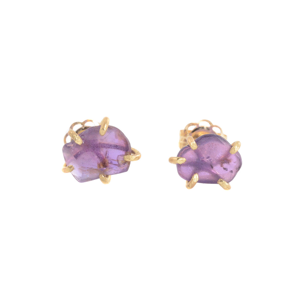 NEW! Small Purple Sapphire Studs by Variance Objects