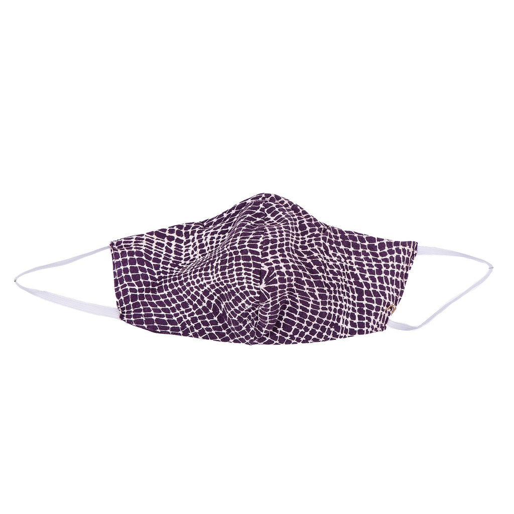 NEW! Umsteigen Bamboo Mask in Purple Grid