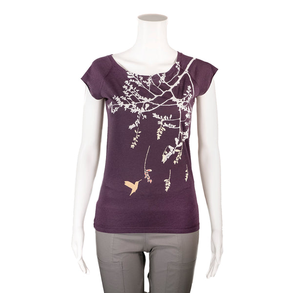 NEW! Purple Hummingbird T-Shirt by Umsteigen