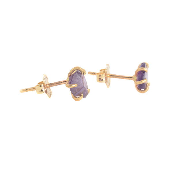 Small Purple Sapphire Studs by Variance Objects