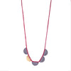 NEW! Bi-Metal Half Moon Necklace in Red by Erica Schlueter