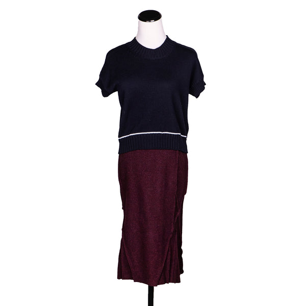 NEW! Bell Skirt in Burgundy by Vilma Marė