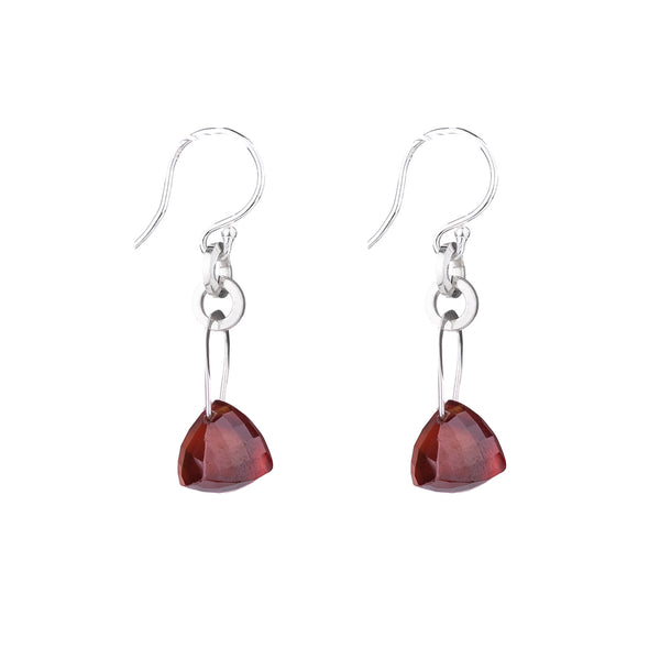 NEW! Stirrup Pyramid Garnet Earrings by Serena Kojimoto
