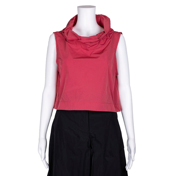 SALE! Wire Collar Vest in Red Pinstripe by Sun Kim