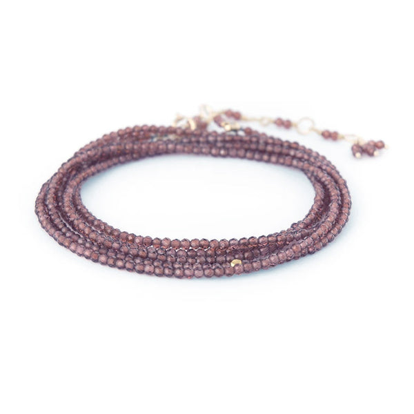 NEW! Wrap Bracelet in Rhodolite Garnet by Anne Sportun