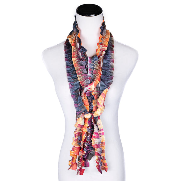 NEW! Ribbons Scarf in Orange by Wendy Edmonds