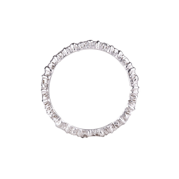 NEW! Aspen Stacking Ring in White Gold by Sarah Graham
