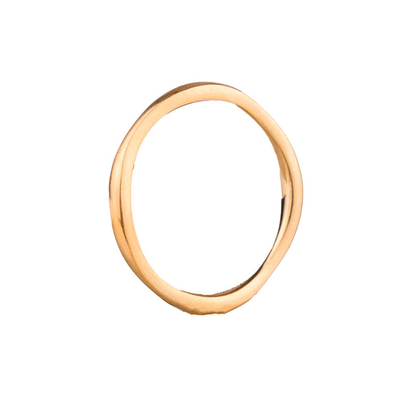 NEW! 14k Yellow Gold Wavy Band by Matsu