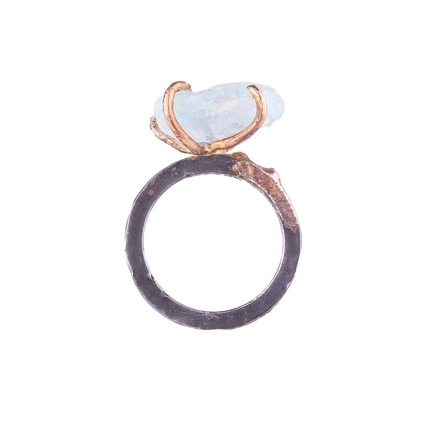 SALE! Large Aquamarine Ring by Variance Objects