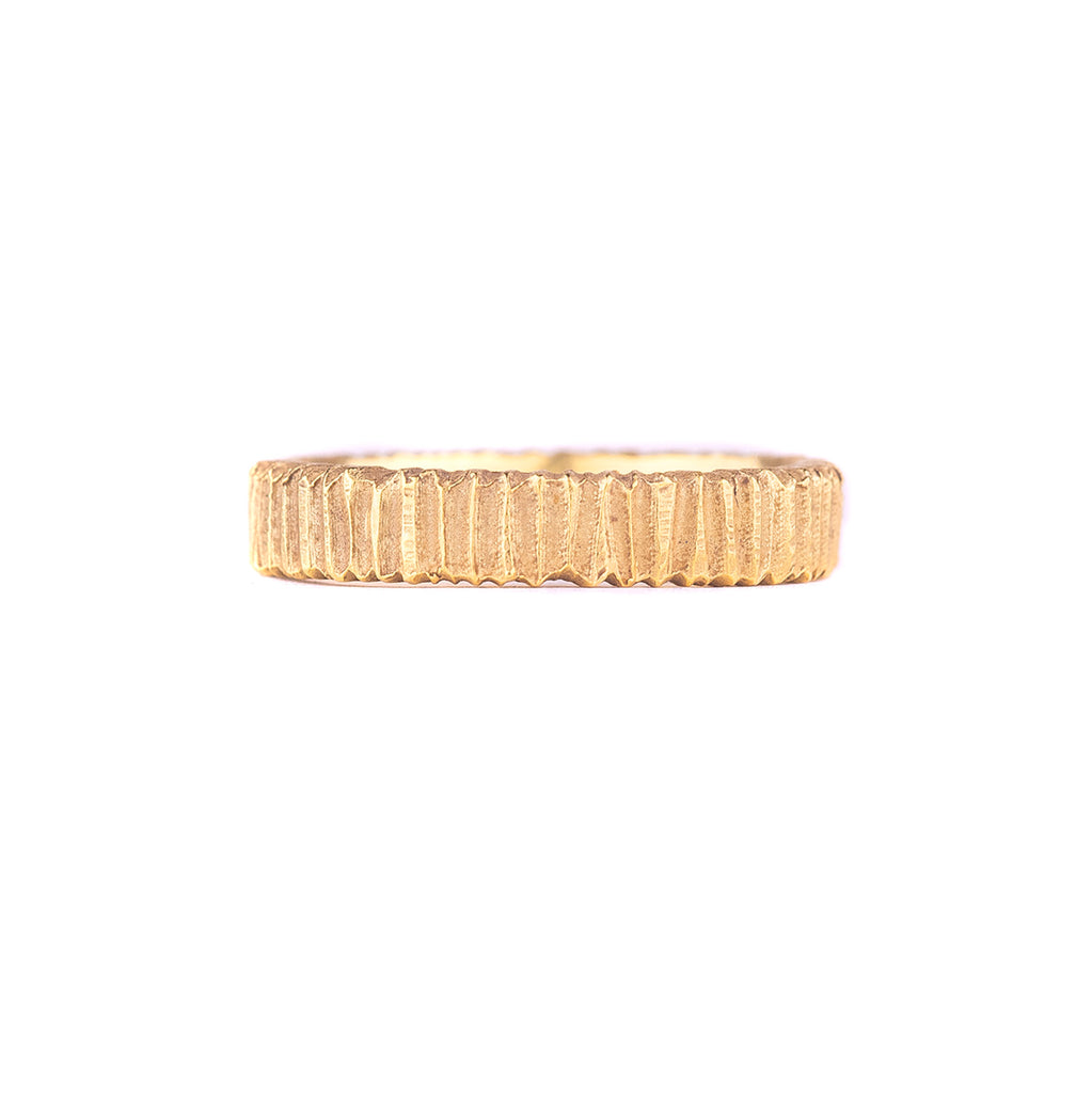NEW! 18k Gold Horizontal Dig Band by Dahlia Kanner