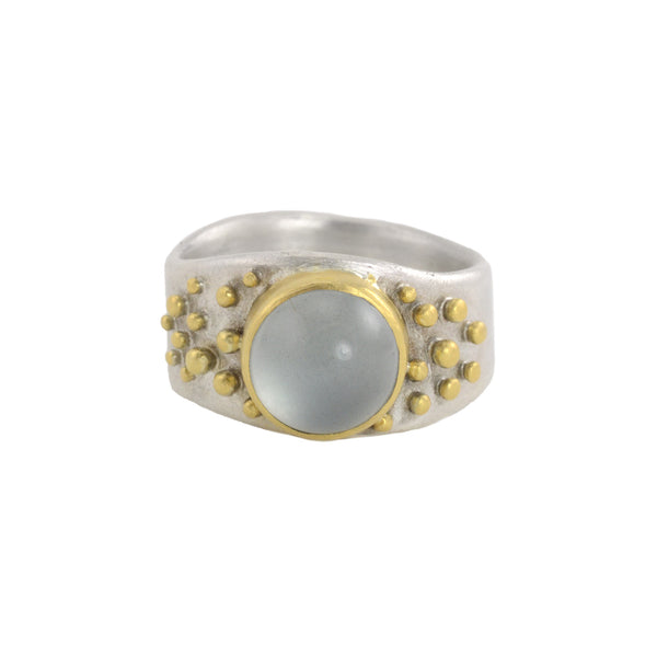 NEW! Round Aquamarine Ring by Regina Imbsweiler