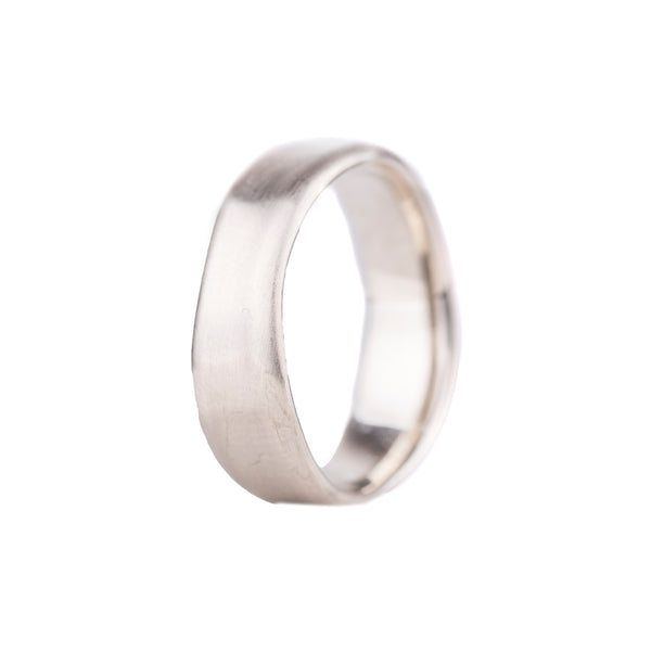 NEW! 14k White Gold Medium Wavy Band by Matsu