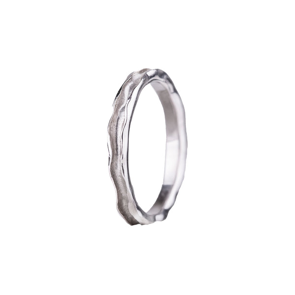 NEW! 18k White Gold Oyster Single Channel Band by Sarah Graham