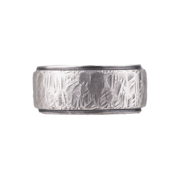 NEW! Wide Textured Silver Band by Matsu