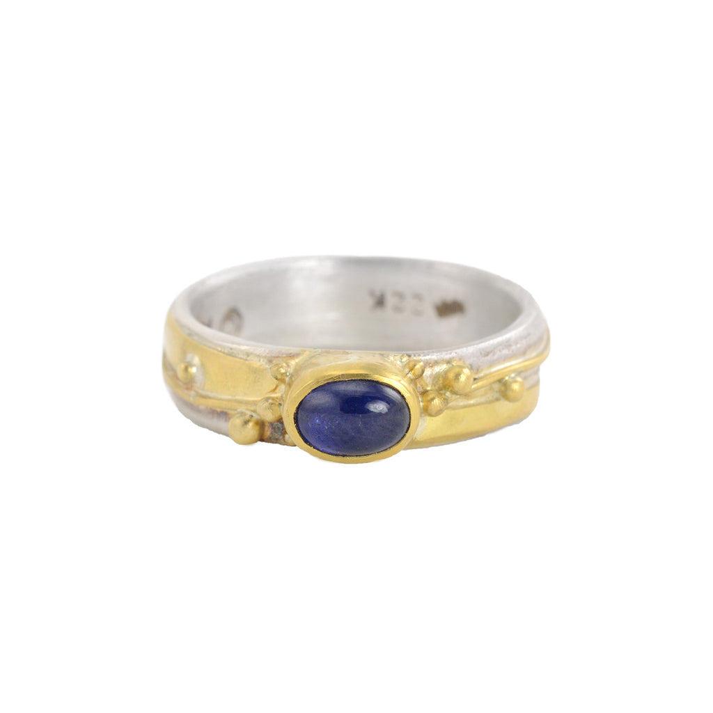 NEW! Small Blue Sapphire Ring by Regina Imbsweiler