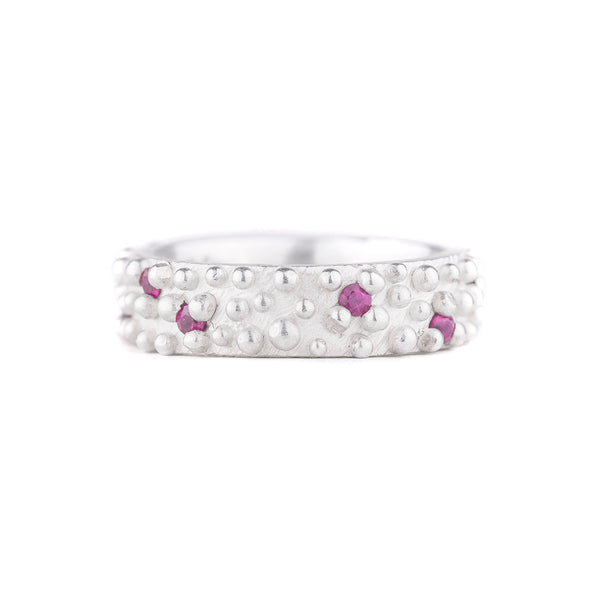 NEW! Bumpy Band with Rubies by Dahlia Kanner