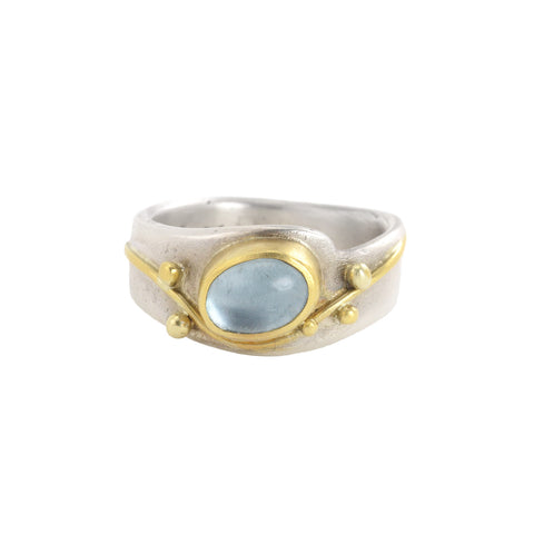 NEW! Oval Aquamarine Ring by Regina Imbsweiler