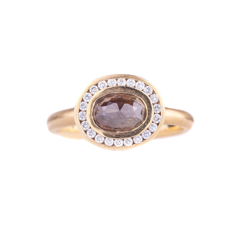 NEW! Rose Cut Brown Diamond Ring by Anne Sportun