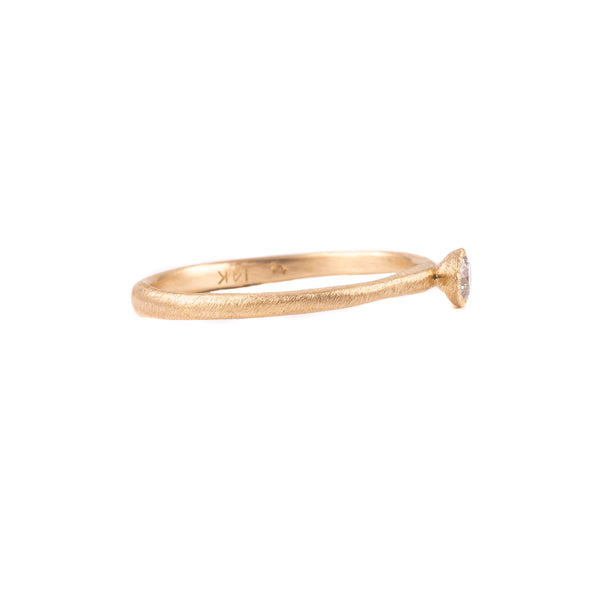 NEW! 14k Tapered Bezel Diamond Ring by Yasuko Azuma