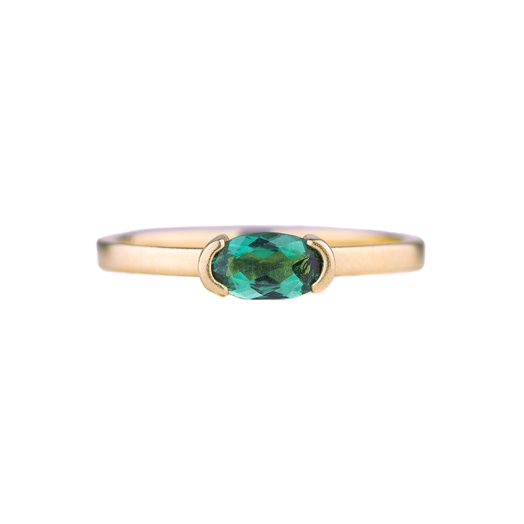 NEW! OOAK Green Tourmaline Ring by Shaesby