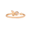 NEW! 18k Gold Bezel Leaf Diamond Ring by Yasuko Azuma