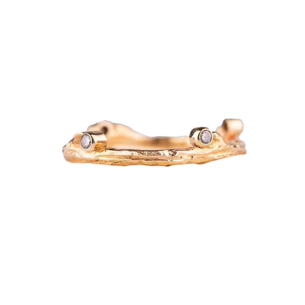 NEW! Hemp Ring in Yellow Gold by Sarah Graham