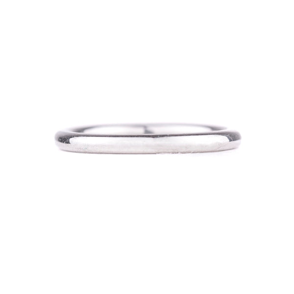 NEW! Simple Polished White Gold Band by Anne Sportun
