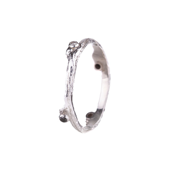 NEW! Hemp Ring in White Gold by Sarah Graham
