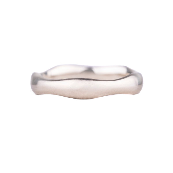 NEW! 14k White Gold Wavy Band by Matsu