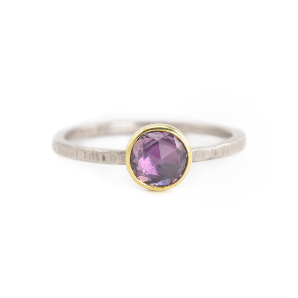 SALE! Purple Rosecut Sapphire Ring by EC Design